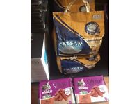 4 Bags of Catsan Litter And 2 Packages of Whiskas Senior Wet Food