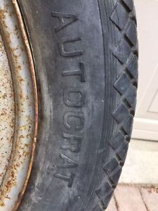 Vintage Dodge Truck Tire and Wood Rim Peterborough Peterborough Area image 3