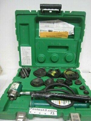 Greenlee Hydraulic Slugbuster Knockout 767 Pump 746 Ram W Dies