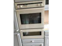 NEF Electric Double Fan Oven, NEF Gas Hob, NEF Dishwasher all white