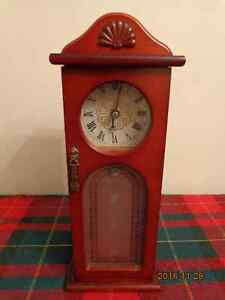 Wooden Jewellery Box with Clock