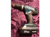 Makita 18v Drill & Battery HP457D