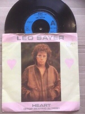 """LEO SAYER 7"""" - HEART ( STOP BEATING IN TIME ) / THE END OF THE GAME - CHS 2616"""