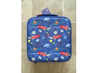 BRAND NEW ROCKETS AND SPACESHIPS LUNCH BAG WITH BOTTLE AND SNACK BOXES