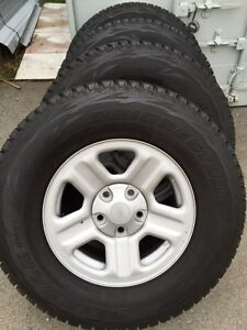 Jeep Wrangler Winter Tires on Factory Rims London Ontario image 1