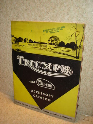 ~*~CIRCA. 1959 TRIUMPH MOTORCYCLES ACCESSORY CATALOG WITH GREAT ITEMS~*~