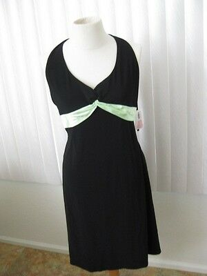 B Darlin  Dress Size 11 / 12 Baby Doll Casual Halter Black Knee Length