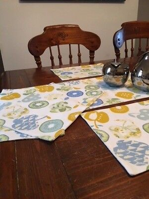 SALE! Table Runner for 6' table in 'Bramley Azure' Mediumweight fabric