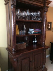 Mexican Pine Hutch/Cabinet/Bookcase