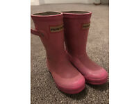 Girls Hunter Wellie Welly boots size 7 or 8 (well loved)
