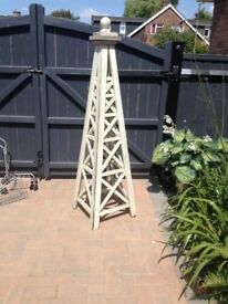 Wooden obelisk for the garden