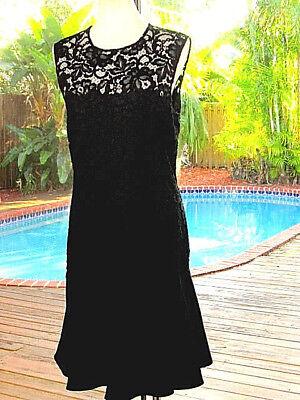 DKNY Dress Lace To The Hips,Then Lotsa Twirl+Swirl~Cool Club Dramatic LBD 8 M