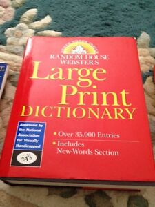 Large Print Dictionary for visually impaired.  Hardcover Webster