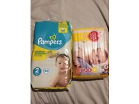 Pampers and Tesco nappies size 2 New and unopened