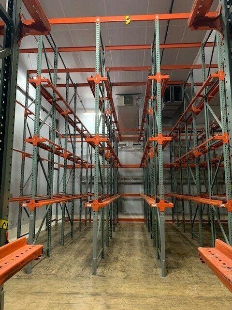 pallet racking used racks shelving storage interlake teardrop warehouse