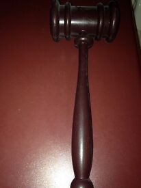 Plastic auction hammer, used once for a charity auction. Great fun!