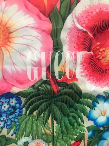 A SINGLE (1) GUCCI FLORAL TREES  DUST BAG TRAVEL SHOES  18 inches by 9 inches