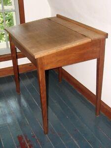 Antique Large Oak Flip Top Angled Writing Desk On Tapered Legs Kitchener / Waterloo Kitchener Area image 2
