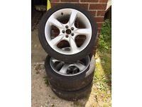 "Subaru 17"" alloys 215/45/17 tyres"