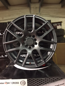 "17"" Vision Cross with Gunmetal finish 5x100, 5x114.3 and 5x120"