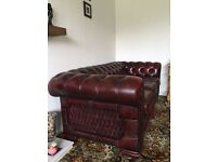 Ox Blood Leather Chesterfield suite (3+1+1)