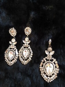 Earrings - great with strapless dress.  Grad or Wedding!