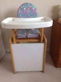Childs high chair with table