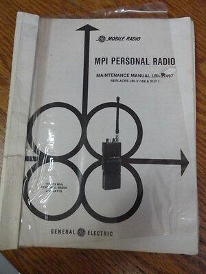 Ge Vintage Mpi Personal Radio Maintenance Manual Vhf 136-174 Lbi-31168 383