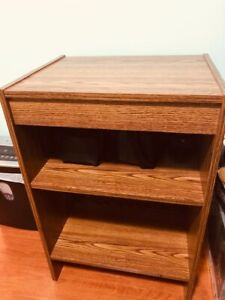 Wooden bookcases and the end table