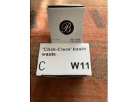 2X Britton Hoxton Click Clack Basin Waste &1x Mcalpine click clack basin waste