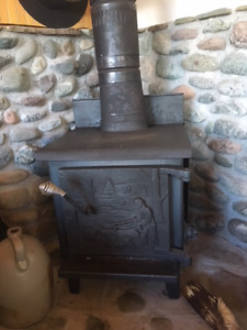 Wood Stove and Stainless Flue For Sale