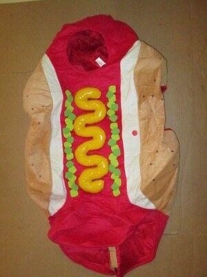Mens HOT DOG foam funny Halloween Costume sz S Sm / M Md Med - Hot Costumes For Men