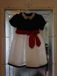 4 Little girls Christmas/special occasion dresses, sizes 3-4