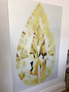 Yellow Geode Gem Jewel Art