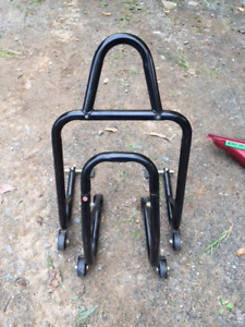 Kimpek Motorcycle stands/ICON RACING JACKET/Tank bag/boots
