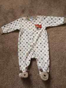 Carters Doggie  Footed Pajamas Fleece Size 6 month