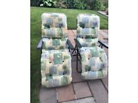 3 x Garden Reclining chairs