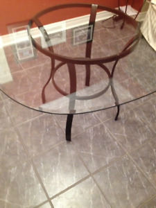 "Round Glass Dining Table 45""x45"""