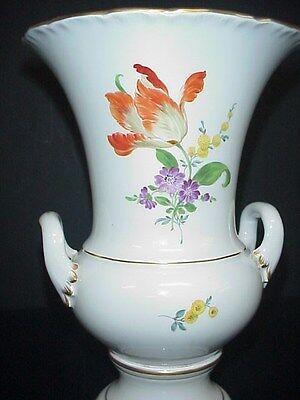 Meissen Vase Antique Hand Painted Flowers