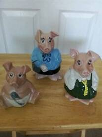 Nat West pig money boxes by wade