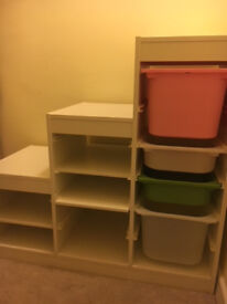 IkeaTROFAST Storage combination with boxes