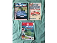 DAILY MAIL MOTOR REVIEWS FOR THE YEARS 1989/1991/1993. £5 FOR ALL 3.