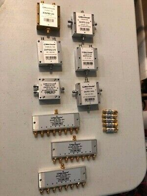 Mini-circuits Power Splitter And Attenuators Zcsc-8-152-s Zn2pd-63-s Lot Of 14