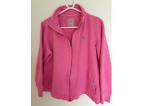 Crew Clothing size 16 Pink zip up fleece backed top
