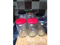 450ml jars and lids ideal cleaned and ideal for jams, pickles, chutneys or crafts