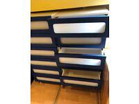 Set of Blue Drawers