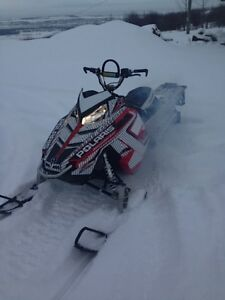 Hardly used 2014 Polaris RMK Pro 800 with Cross Trax sled deck