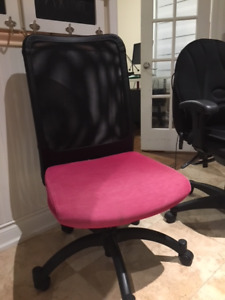 Swivel based desk chair.  $50 - Pink and Black