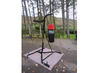 EVERLAST HEAVY PUNCH BAG & SPEED BAG STAND