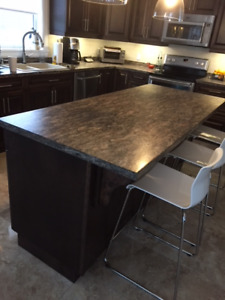 Kitchen sink and counter top and island top